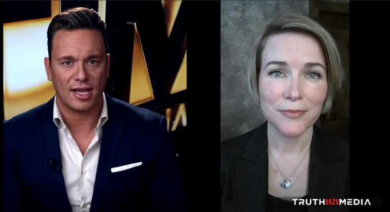 Ben Swann och Mya Olson, 16 Feb 2020. Foto: TruthinMedia.com